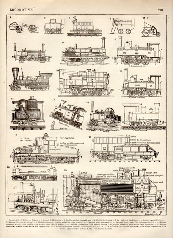 Train Railroad Steam Locomotive Diagram 060 Switching No 218 Art – Labeled Diagram Of A Steam Engine