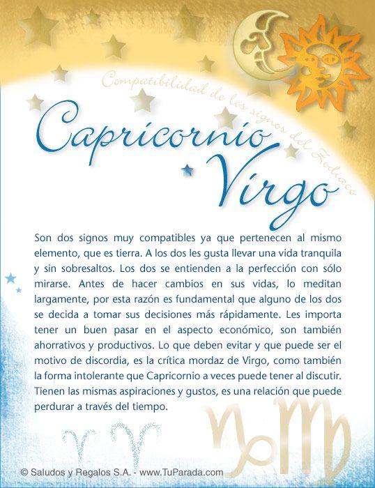 Capricornio Con Virgo Compatibilidad De Capricornio Tarjetas Postales Gratis Feliz Día Nombres Fotos Imágenes Felice Virgo Zodiac Mind Aries Horoscope