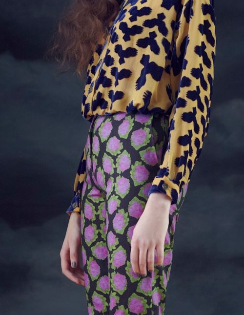 Print mix *-*!!!! want!!!! That top is so great! The print, color ahhhhhh!:
