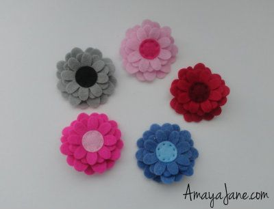 Zinnia Flower Hair Clip { Amaya Jane }