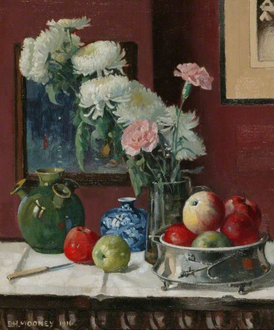 Edward Hartley Mooney (1834-1902) Still Life,  1916  : Manchester Art Gallery, Manchester.United Kingdom  (665×800)