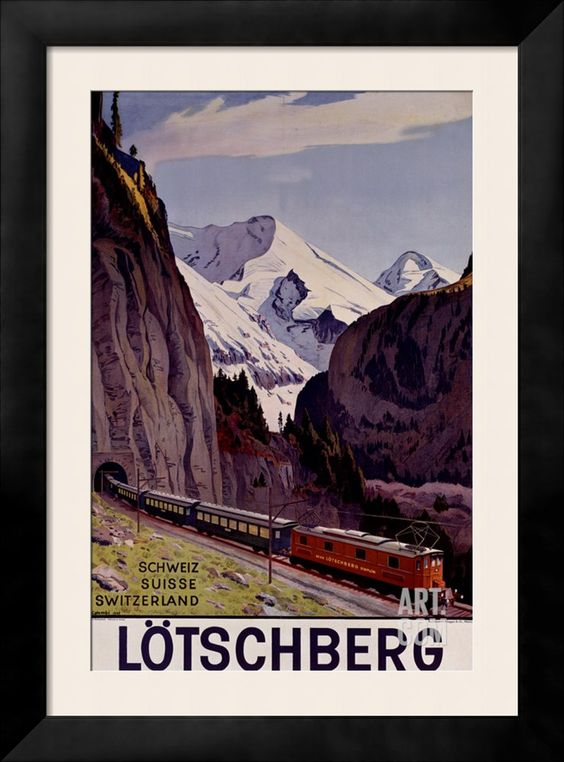 Lotschberg Giclee Print by P. Colombi at Art.com