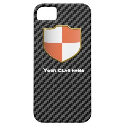 Orange & White Chequered Shield | iPhone 5 Case look at this