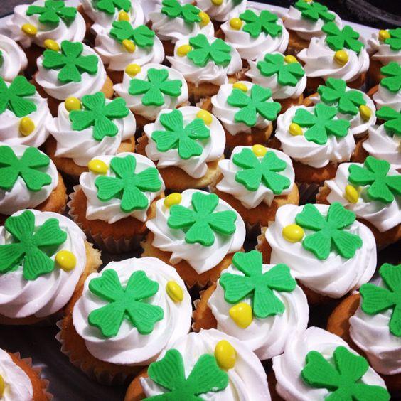 Cupcakes de la suerte o San Patrick's day