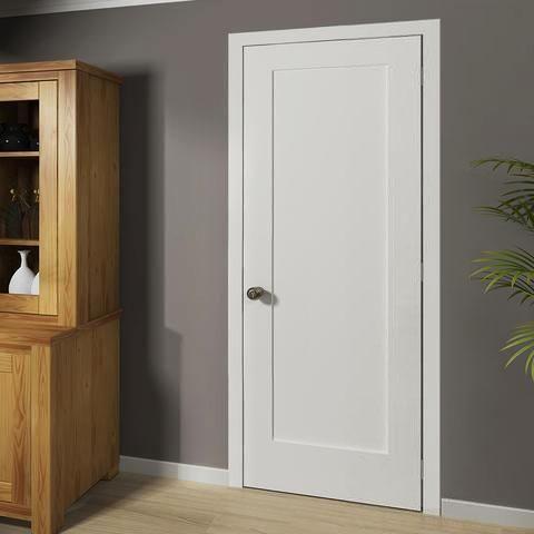 Shaker 1 Panel Solid Core White Interior Door Slab White