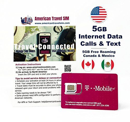 Bestes Angebot Prepaid Sim Karte 5gb Internet Daten Usa 5gb