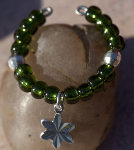 Silver Lined Beads - Olive