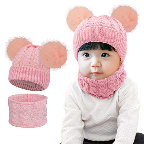 Mode Baby Unisex Kinder Herbst Wintermütze Baumwolle Mit Schal Warm Hat