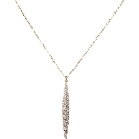 Humble Chic NY Brancusi Delicate Necklace ($20) ❤ liked on Polyvore featuring jewelry, necklaces and goldtone diamond
