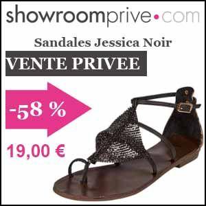 #missbonreduction; Vente privée : 58 % de réduction sur les Sandales Jessica Noir chez Showroomprive.http://www.miss-bon-reduction.fr//details-bon-reduction-Showroomprive-i853029-c1835295.html