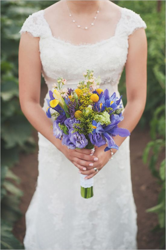 iris wedding bouquet