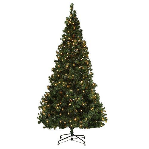 Homegear Deluxe 7 5ft Artificial Spruce Christmas Tree With Metal Stand Prelit With 550 Led Spruce Christmas Tree Types Of Christmas Trees Christmas Tree