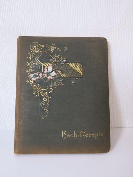 Koch-Recepte Buch Register Büchlein für Jugendstil Liebhaber  www.zeitepochen-shop.com