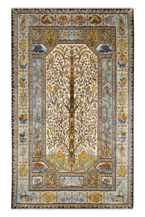 Kashmir Silk Carpets Persian And