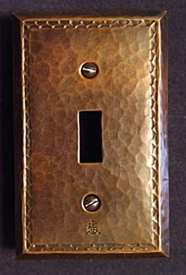 Copper Switch or Outlet Plates with Chased Edge