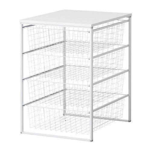 Wire baskets fabrics and corner bathroom storage on pinterest for Ikea basket drawers