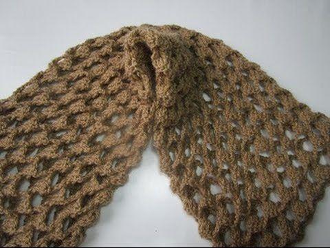 Crochê Peruano - Como Fazer - Cachecol - Graça Tristão - YouTube