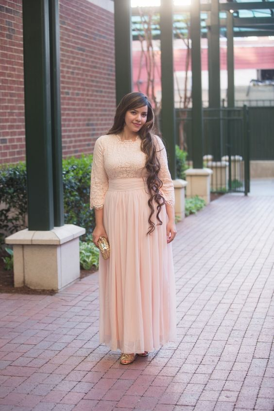 The Long Bridesmaid Dresses Are Fully Lined Since It S A Fit Design There Ar Bridesmaid Dresses Plus Size Blush Pink Bridesmaid Dresses Plus Size Bridesmaid