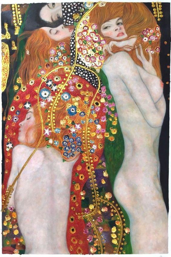 Gustav Klimt | Water Snakes Serpents