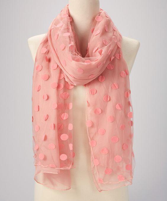 Blush Pink Dot Scarf