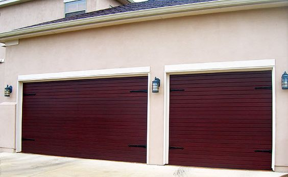 Faux Wood Garage Door That Looks Like Wood But Has A