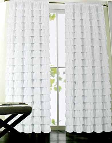 Cynthia Rowley Ruffle Window Curtain Panels Marietta Ruffles 52 by ...