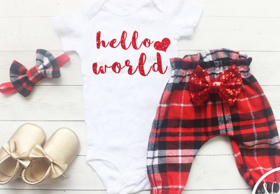 Newborn Girl Coming Home Outfit Baby Girl Clothes by NylaMarieKids