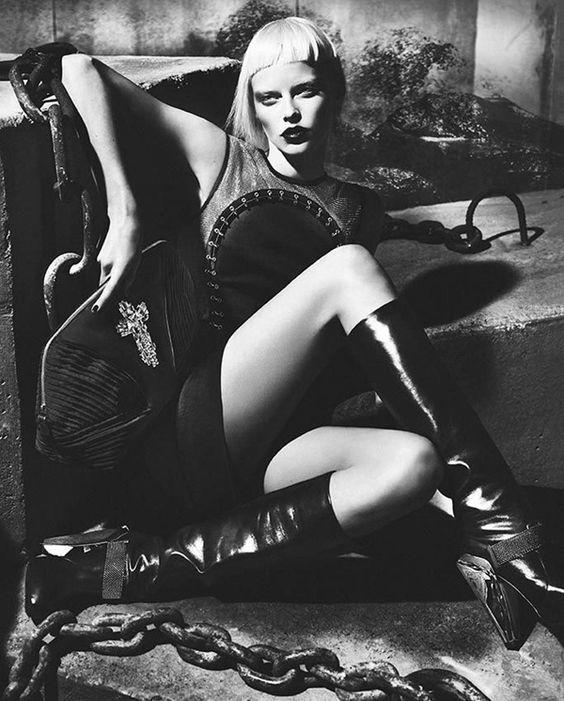 Elza Luijendijk for Versace's Fall 2012 Campaign, Shot by Mert & Marcus.
