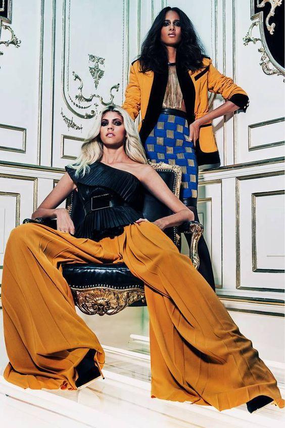 Models, Cindy Bruna and Devon Windsor photographed by Dominick Sheldon - Balmain ❤