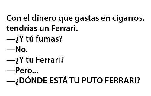 muy cierto creo que tenia mas dinero cuando fumaba #Frases en #espanol #humor
