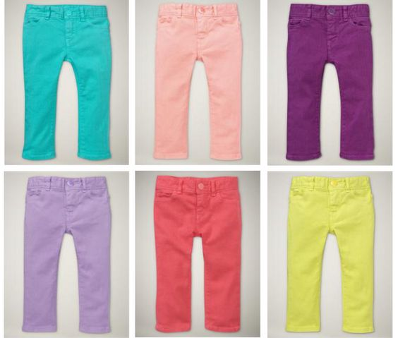 Colorful Skinny Jeans...so cute!