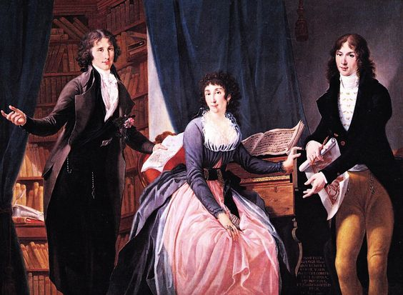 "monsieurleprince:<br /><br /><br /><br /> "" Saverio Dalla Rosa (1745 - 1821) - Isotta Spolverini dal Verme with her sons, 1794<br /><br /><br /><br /> "":"