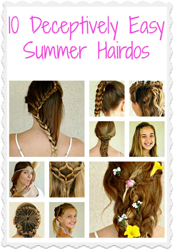 These cute, summer hairstyles look amazing and complicated, but are actually easy for anyone to create. See them all, on Babble.