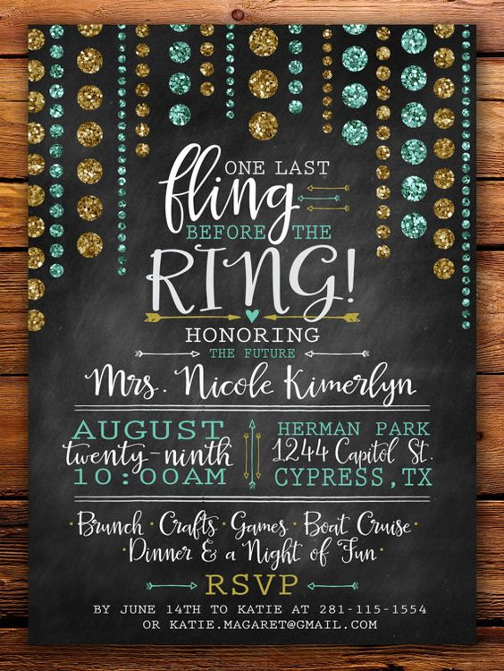 Last Fling Before the Ring  Bachelorette Party by Shaileyann