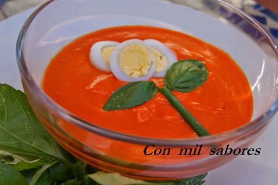 SALMOREJO DE PIMIENTOS ASADOS   Cocinar en casa es facilisimo.com