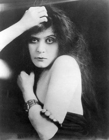 Theda Bara.  Would love to see her on film, because in pictures there is something vaguely Margaret Dumont-y about her.