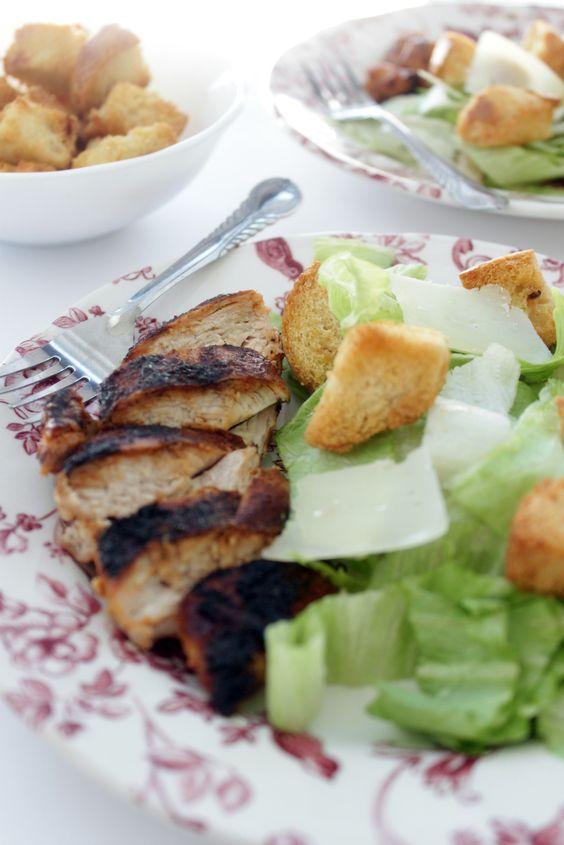 Blackened chicken caesar- mmmm!