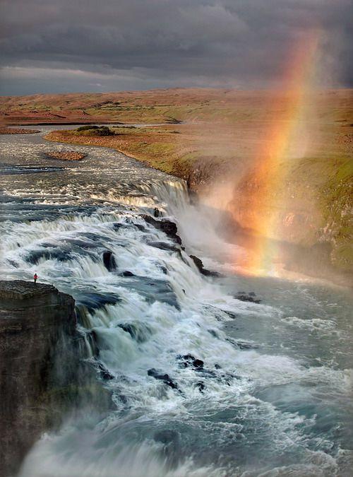 Gullfoss with Rainbow | Iceland (by Tony Gill