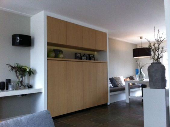 Portfolio categorie meubels van andere houtsoorten foto wandkast eiken fineer met - Fotos van woonkamer meubels ...
