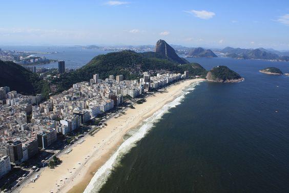 Copacabana beach as seen from a helicopter - Rio de Janeiro | Flickr - Photo Sharing!