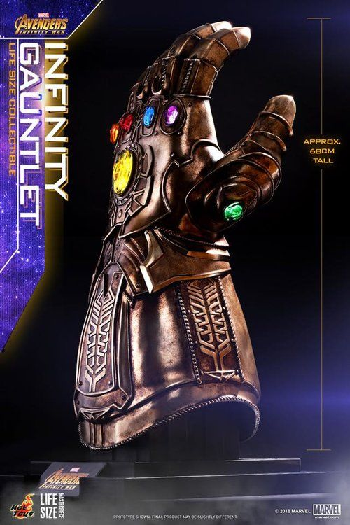 Hot Toys Avengers Infinity War Iron Man Action Figure And Thanos Infinity Gauntlet Geektyrant Marvel Infinity Hot Toys Replica Prop