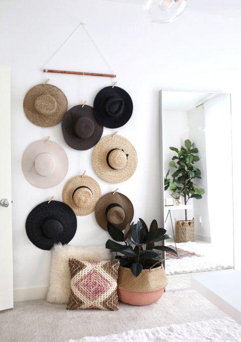 Diy Hat Wall Display In 2020 Wall Hats Wall Hat Racks Hanging Hats