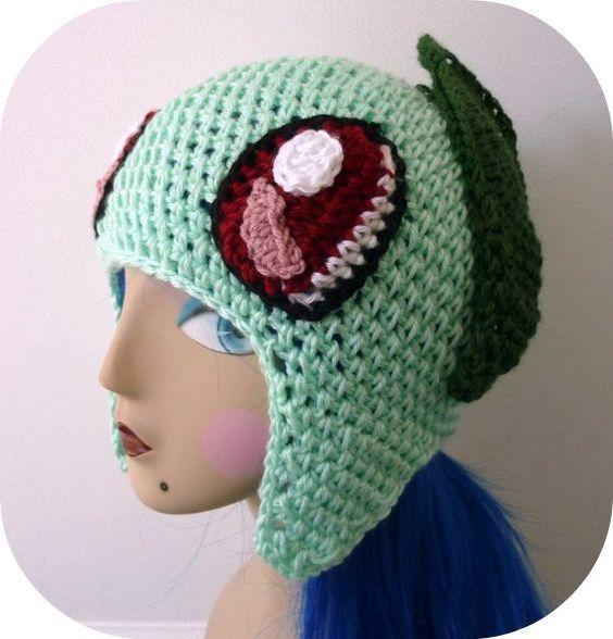 pokemon crochet hats Crochet Chickorita Chickarita ...