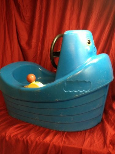 Outdoor Toddler Toys Boats : Vintage rare tuggy little tikes blue tug boat toddler toy