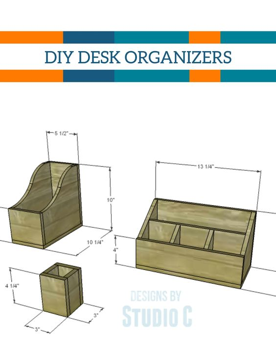 Make your own wooden desk organizers for your office with - Make your own desk organizer ...
