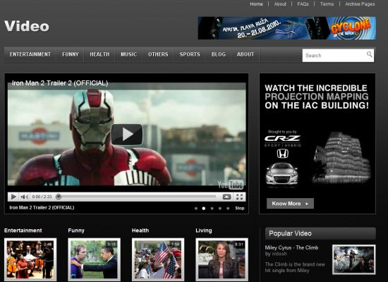 Templatic Video WordPress Theme : Free WordPress Video Template ...