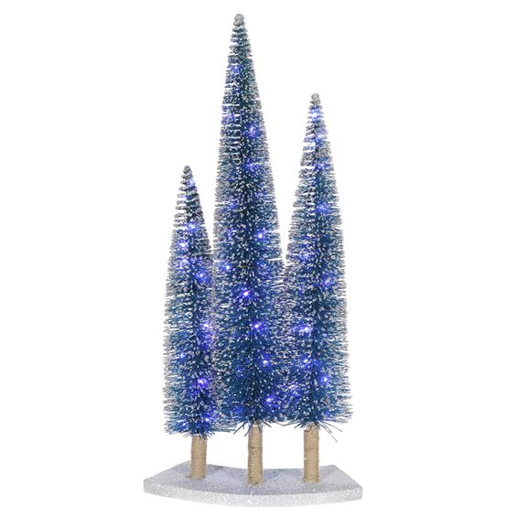 "Vickerman S101022 16/24/20"" Blue Tree Set w/72LED Blue"