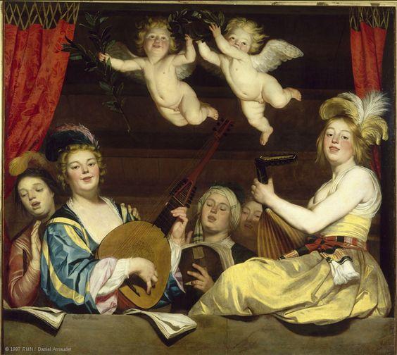 Gerrit van Honthorst (1592 – 1656), Concerto, 1624, Paris, Musée du Louvre: