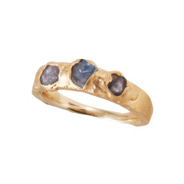 Yellow Gold and Sapphire 'Shard' Ring