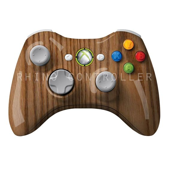 XBOX 360 controller Wireless Glossy WTP-307-Oak Custom Painted- Without Mods